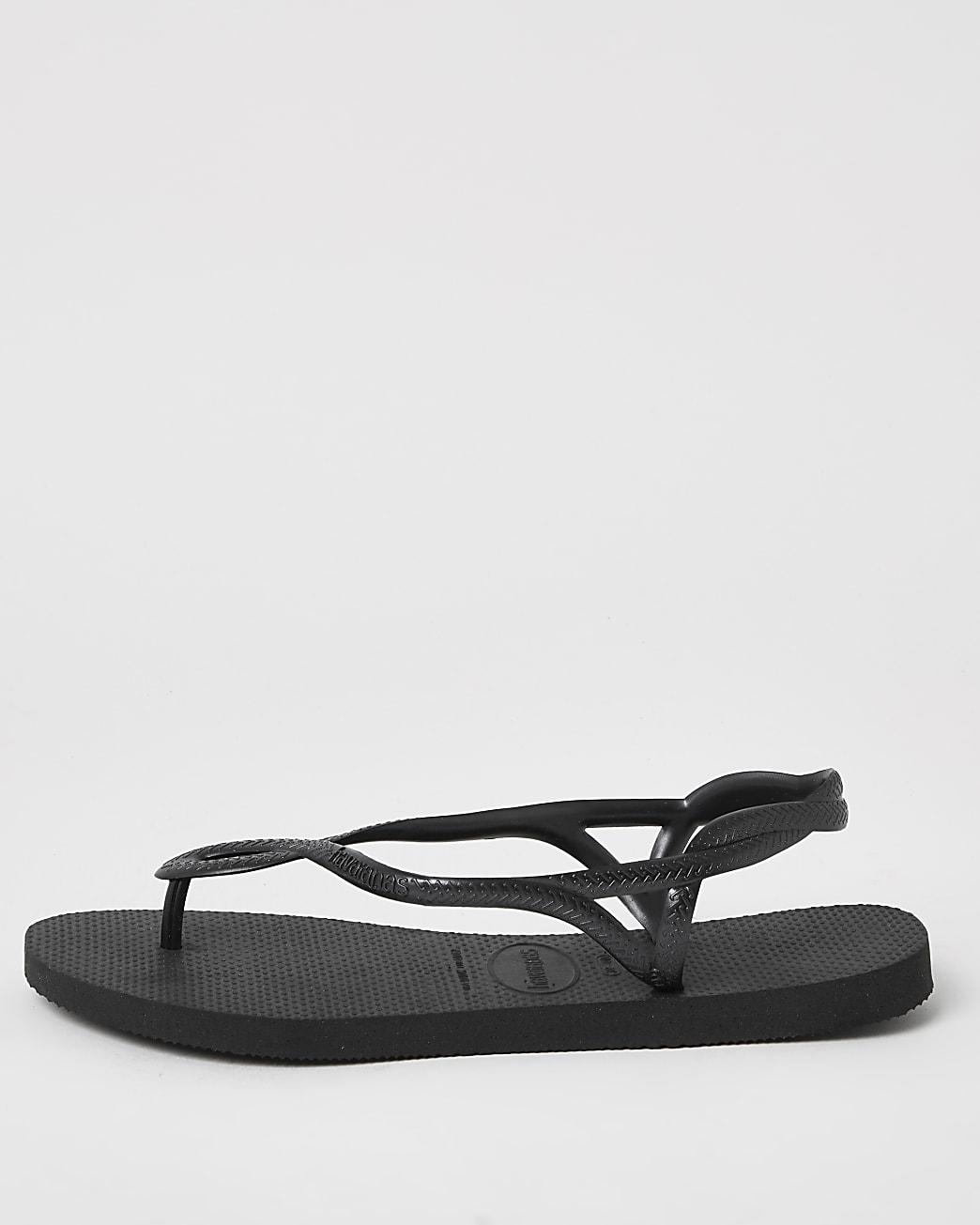 Havaianas Black Twist Strap Rubber Flip Flops