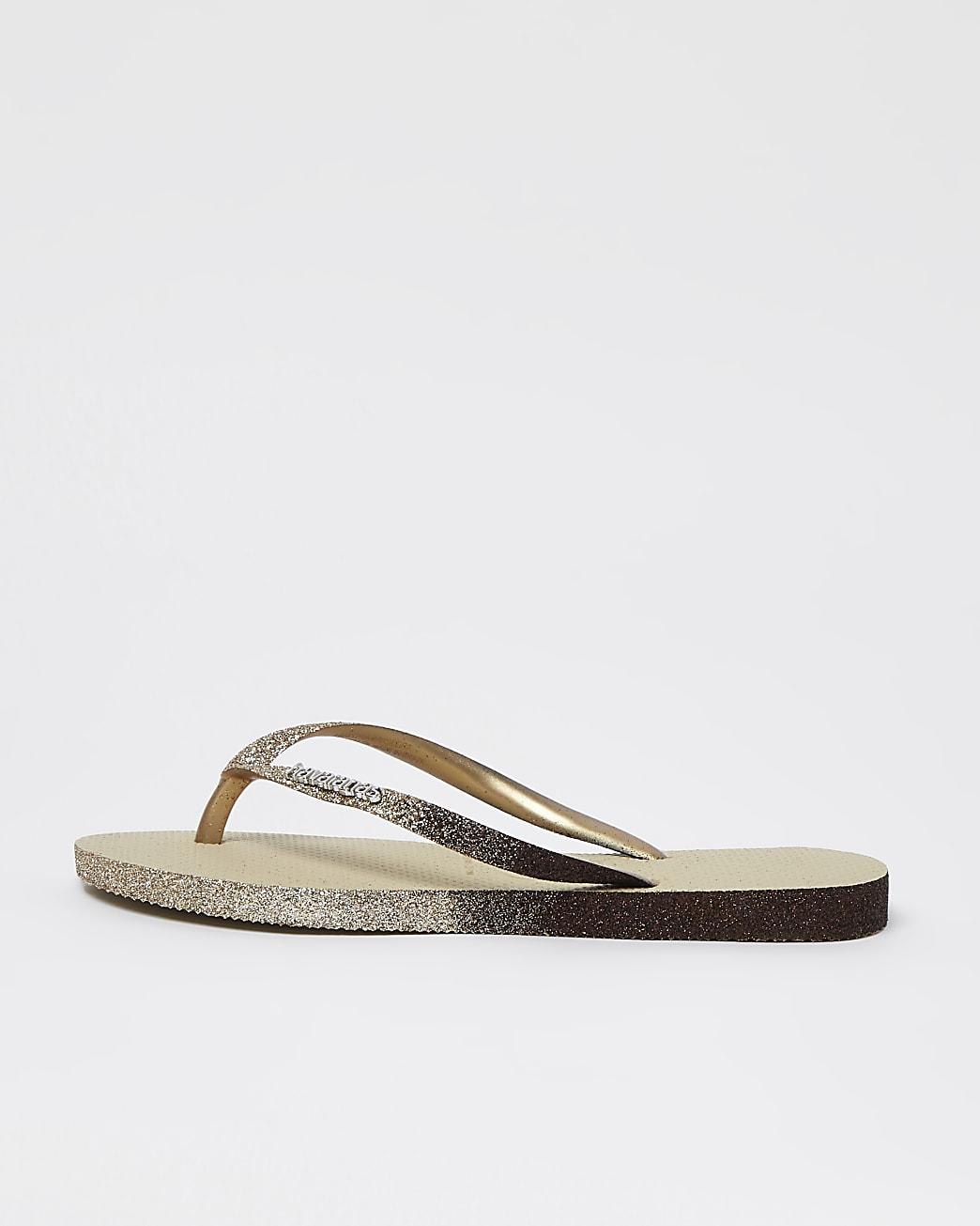 Havaianas grey slim flip flops