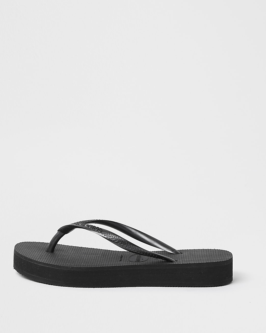 Haviana black slim flatform flip flop