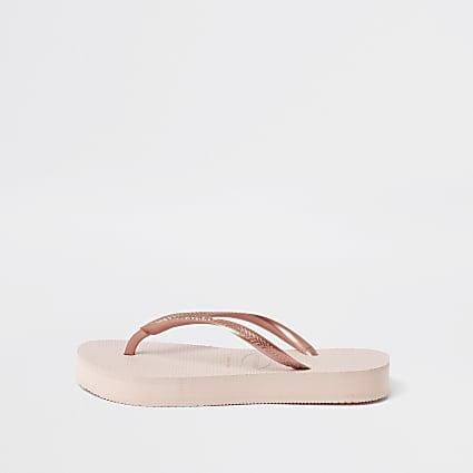 Haviana Gold Slim Flatform Flip Flop