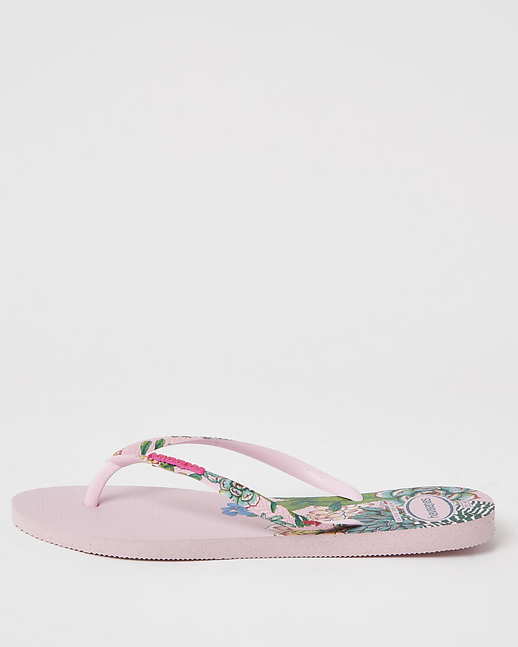 Haviana pink tropical flip flops