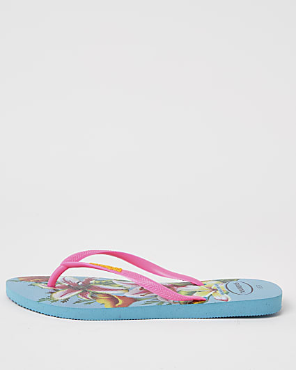 Haviana tropical print flip flops
