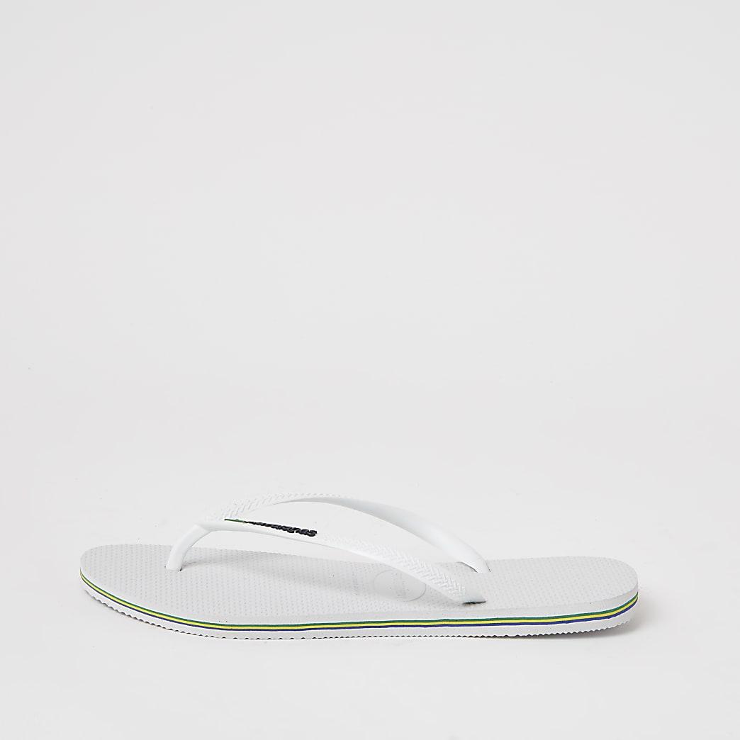 Haviana White Brazil Logo Flip Flop