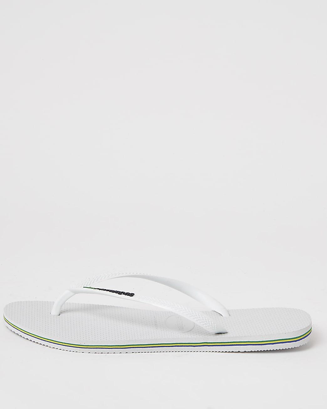 Haviana white flip flops