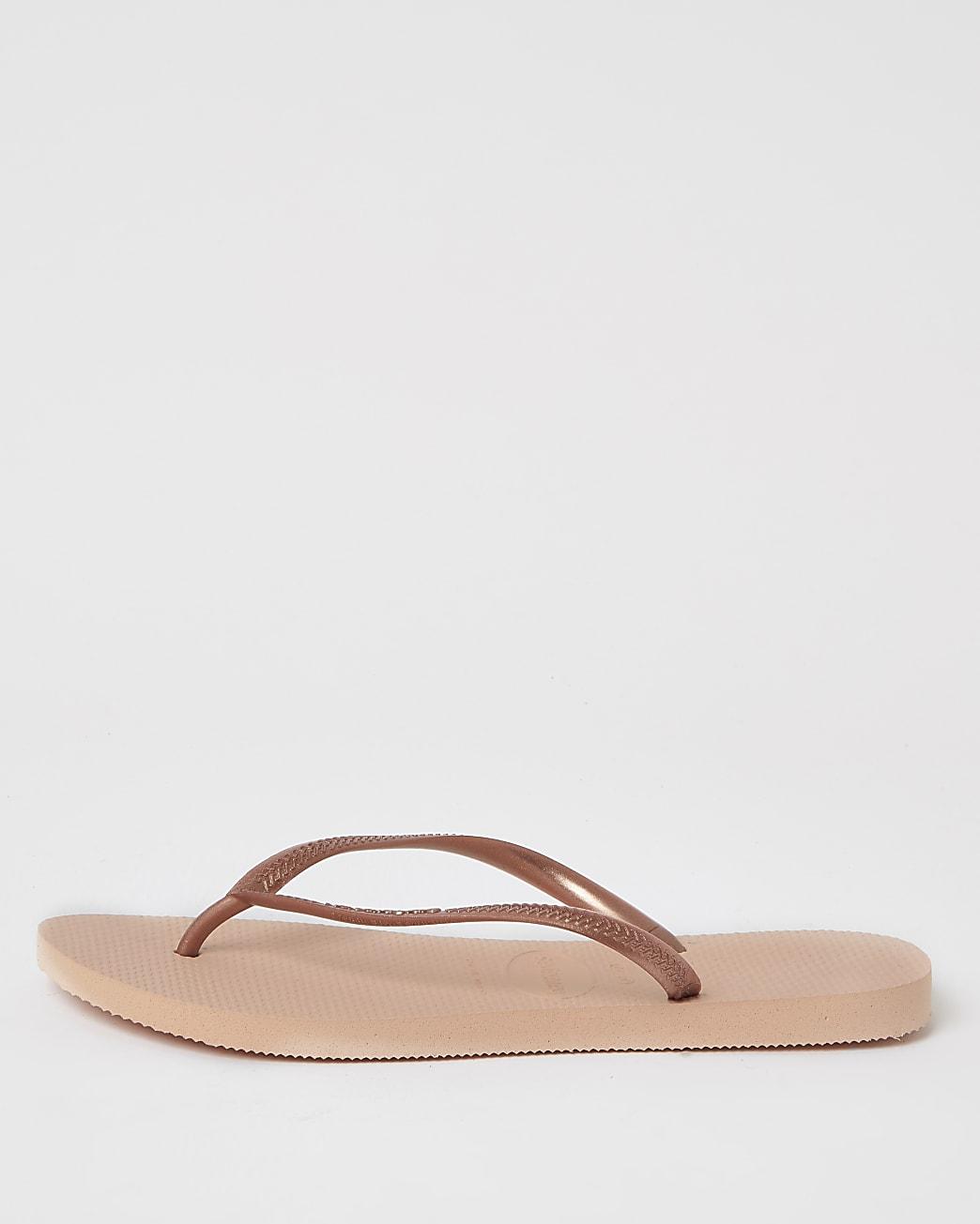 Havianas Pink slim flip flops