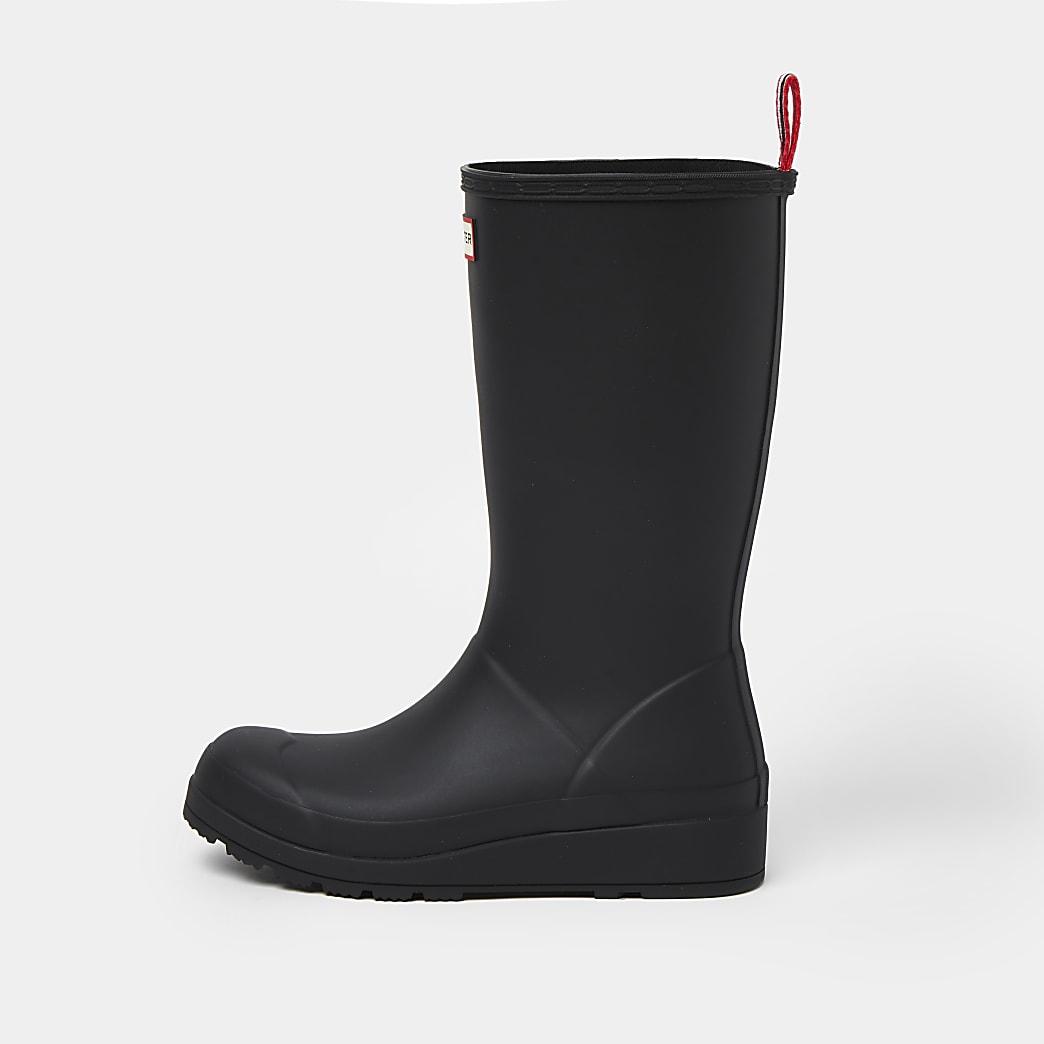 Hunter black tall boots