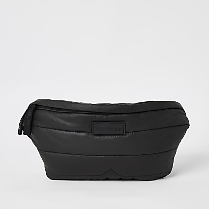 Hunter Original black padded puffer bumbag