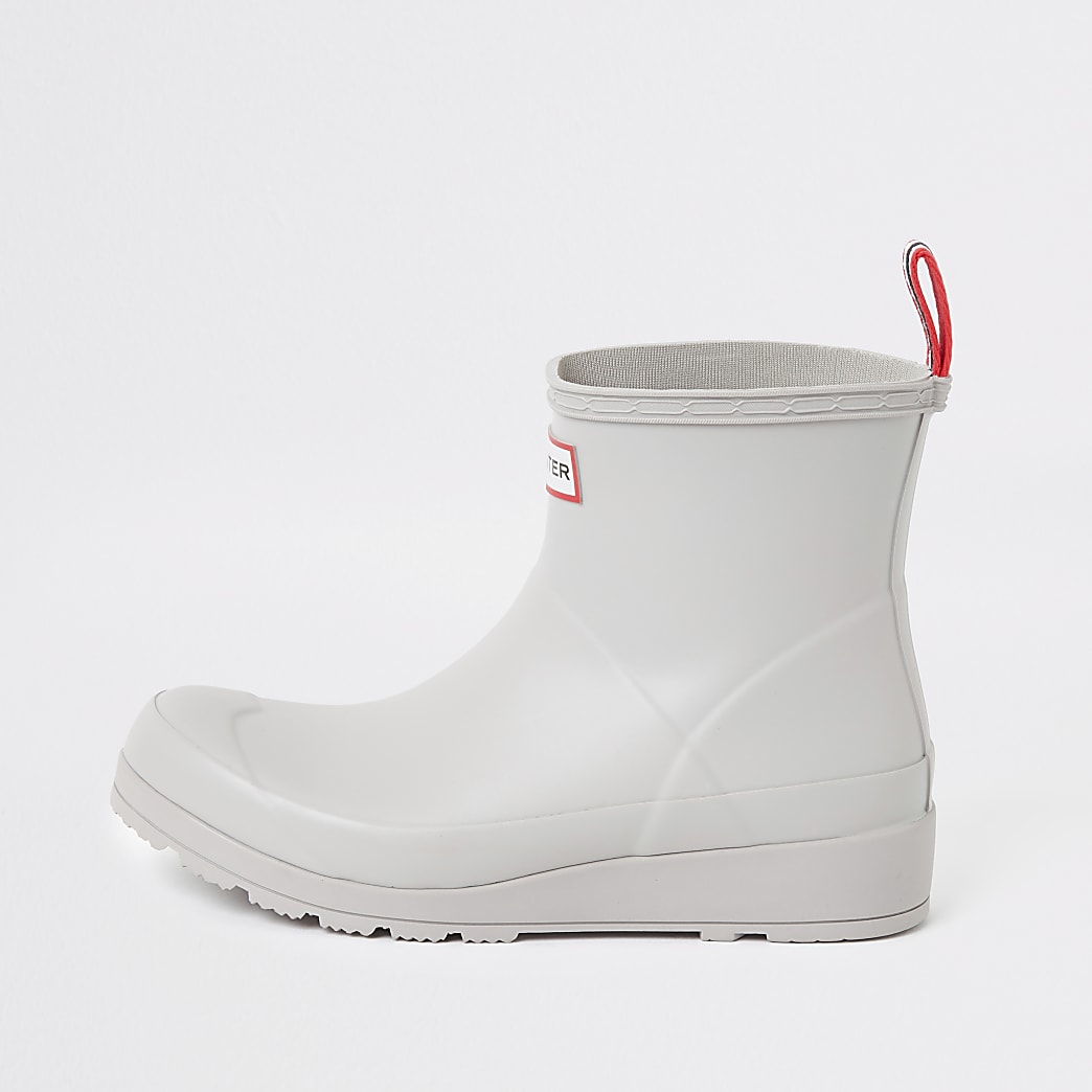 Hunter Original grey short wellington boots
