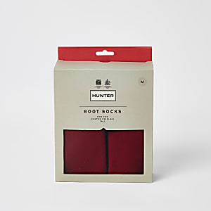 Hunter Original – Lange Stiefelsocken in Rot