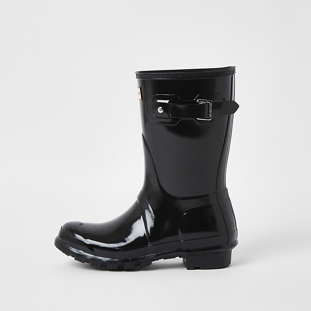 Hunter Originals black gloss wellington boots
