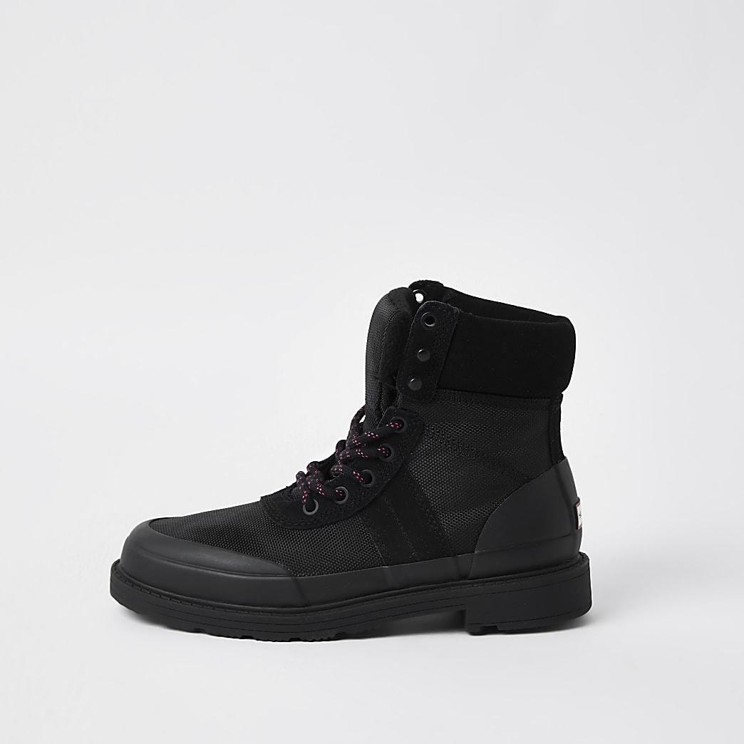 Hunter Originals black hiker commando boots
