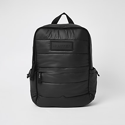 Hunter Originals black padded puffer backpack