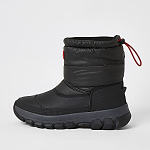 Hunter Originals black padded snow boots