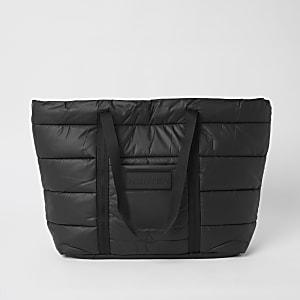 Hunter Originals – Gesteppte Tote Bag in Schwarz