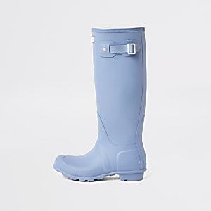 Hunter Originals - Blauwe Wellington regenlaarzen