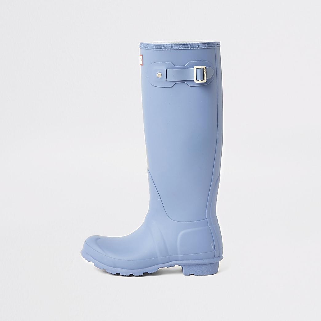 Hunter Originals blue wellington boots