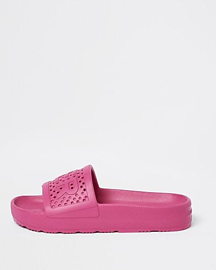 Hunter pink molded sliders