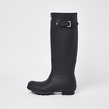 Hunters black wellington classic boots