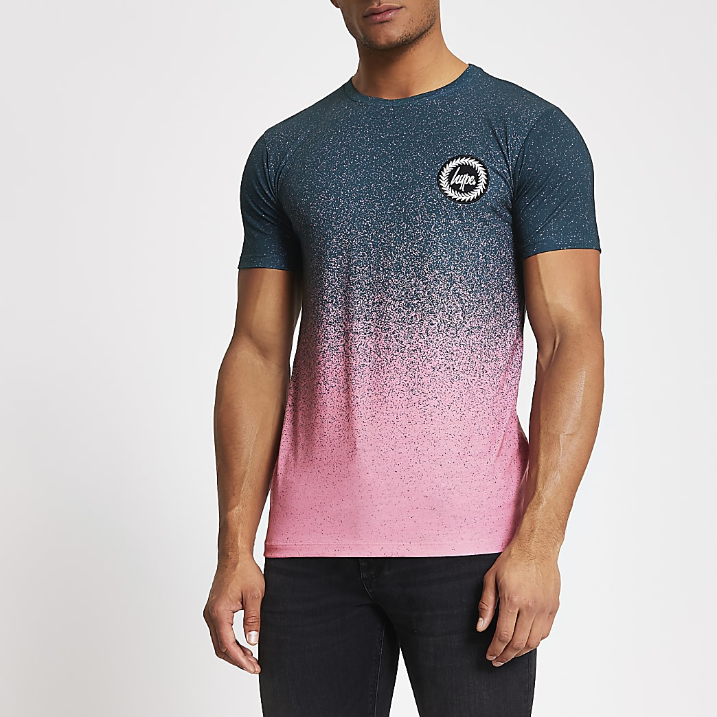 Hype - Groen gestipt ombre T-shirt