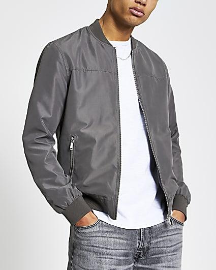 Ice grey bomber jacket