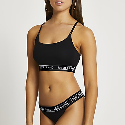 Intimates black RI brief set