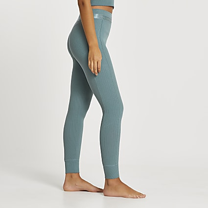 Intimates green RI ribbed leggings