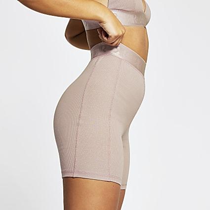 Intimates pink RI ribbed cycling shorts