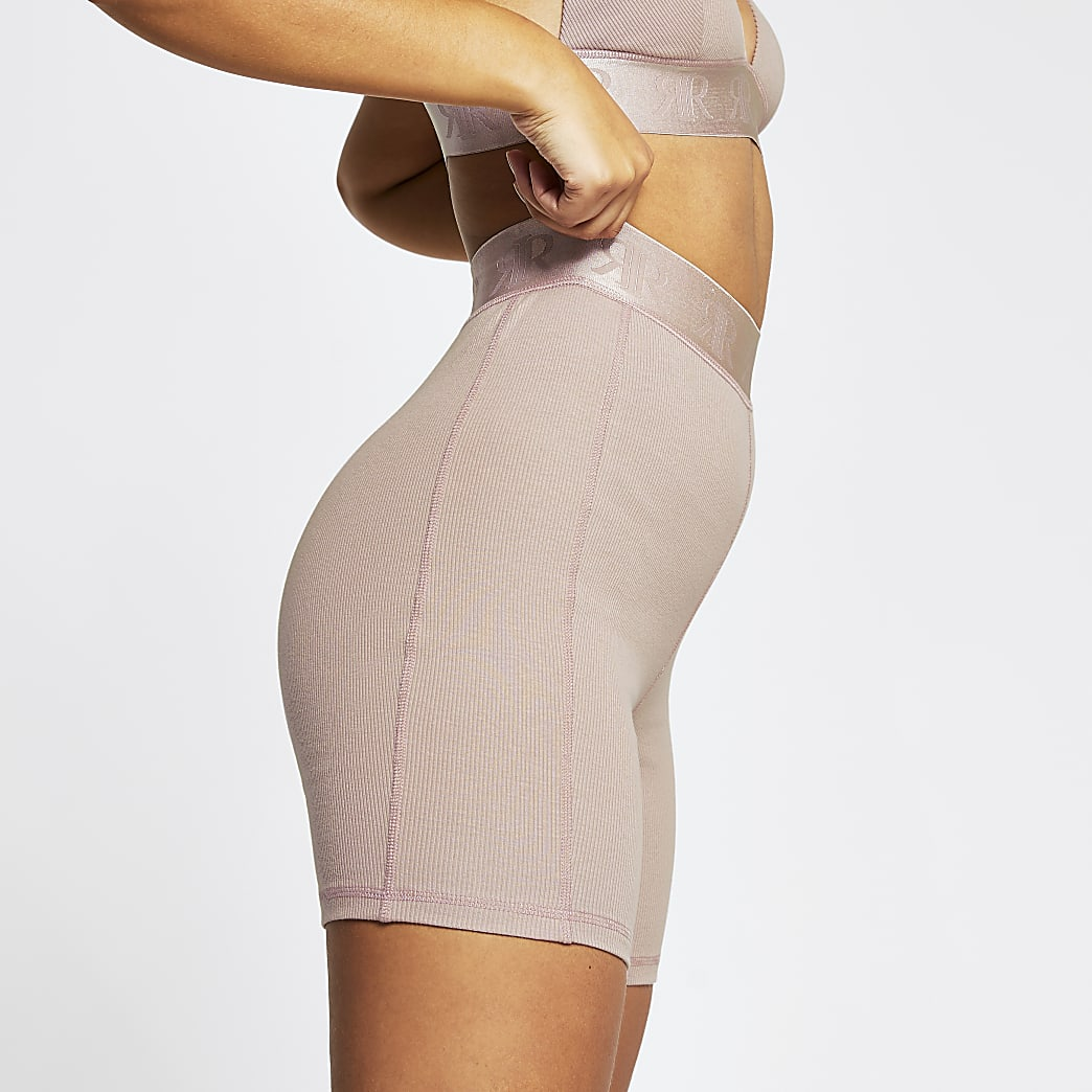 Intimates pink RI ribbed cycling shorts