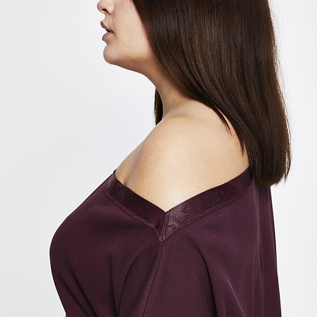 Intimates Plus purple asymmetric sweatshirt