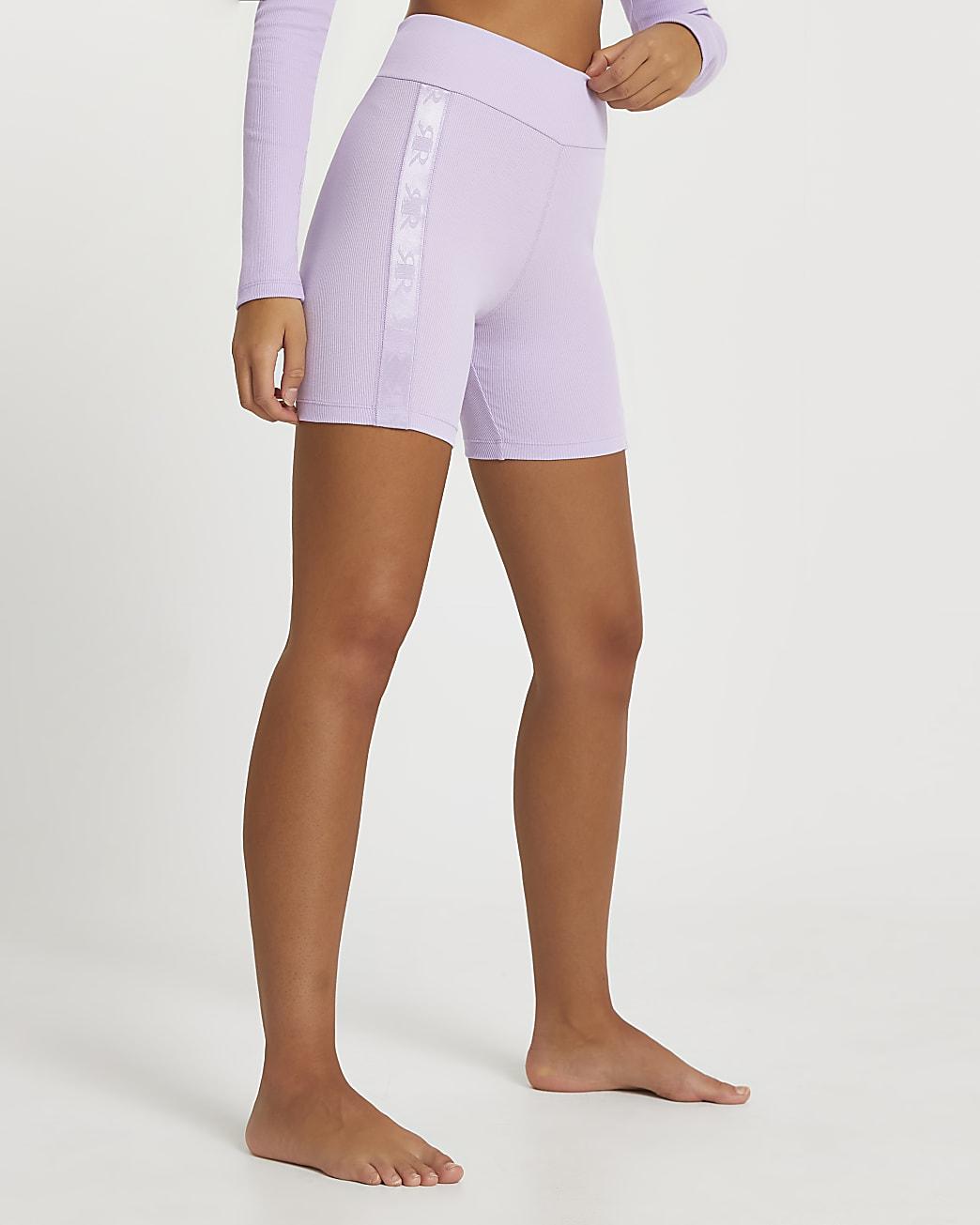 Intimates purple ribbed cycling shorts
