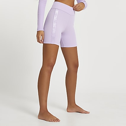 Intimates purple ribbed cycling shorts