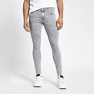 Jack & Jones – Original Skinny Fit Jeans in Grau