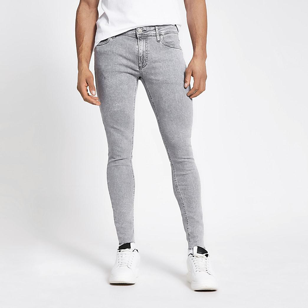Jack and Jones grey original skinny fit jeans