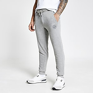 Jack and Jones lichtgrijze joggingbroek