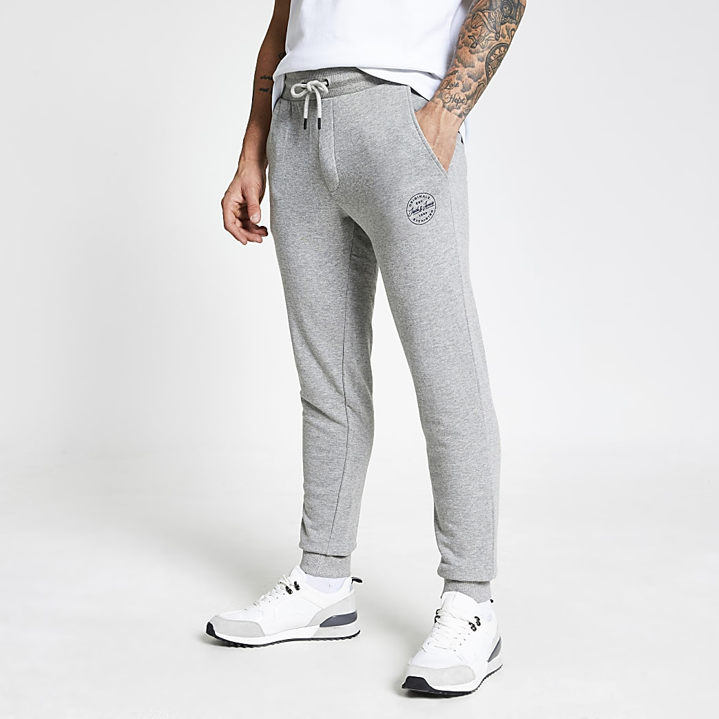 Jack and Jones light grey joggers
