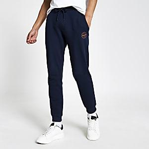 Jack and Jones – Pantalon de jogging bleu marine
