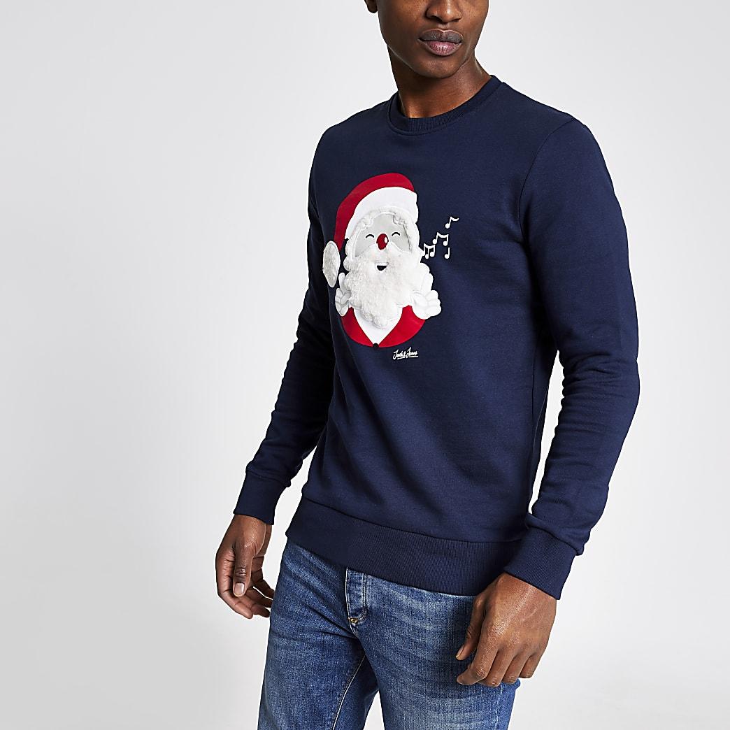 Jack and Jones navy penguin sweatshirt