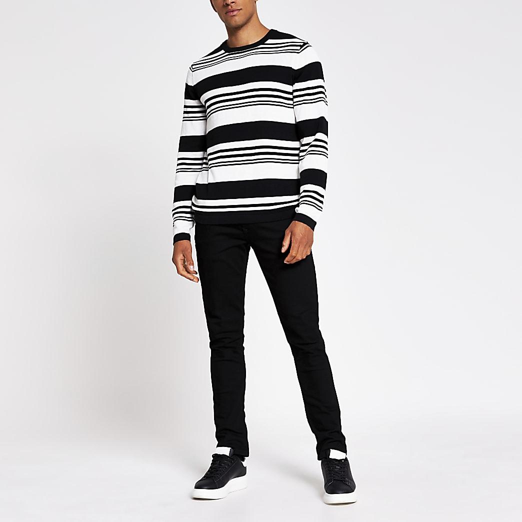 Jack and Jones white knit jumper