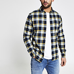 Jack and Jones – Chemise à carreaux jaune