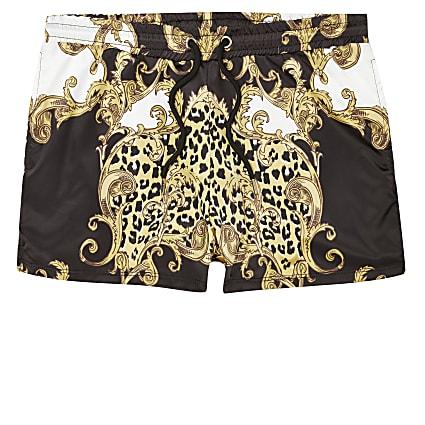 Jaded London baroque print shorts