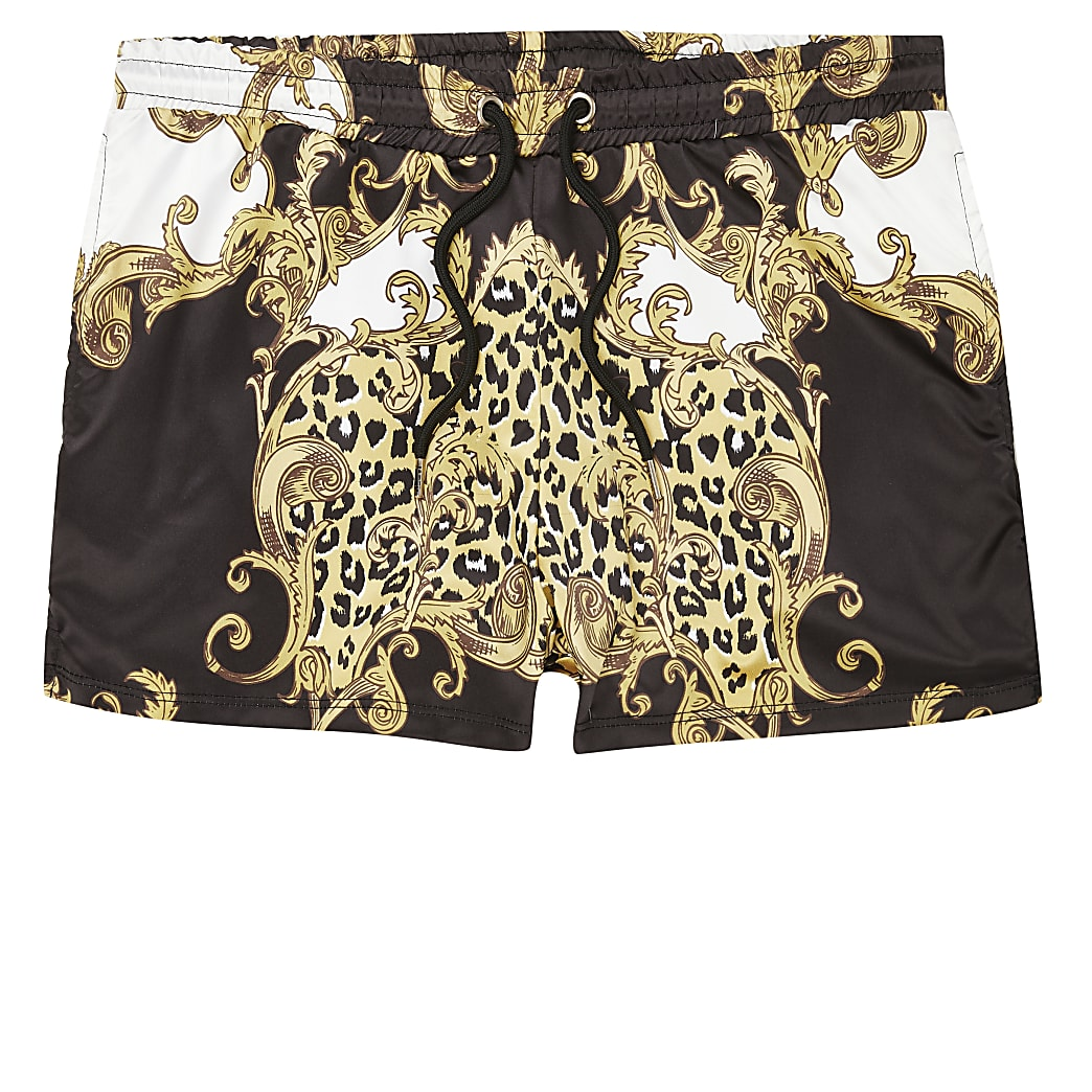 Jaded London baroque print shorts