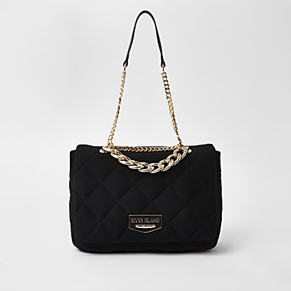 Jersey quilted underarm shoulder bag