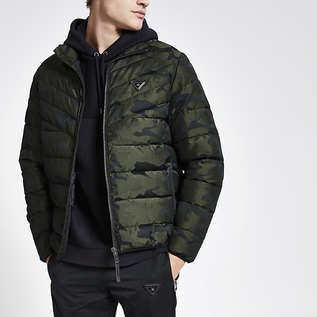 Khaki camo MCMLVX padded coat