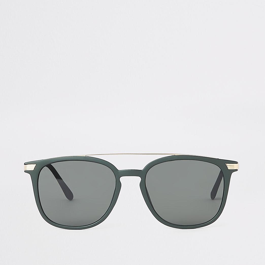 Khaki green navigator sunglasses