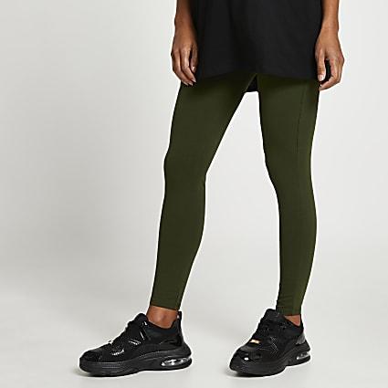 Khaki high waisted maternity leggings