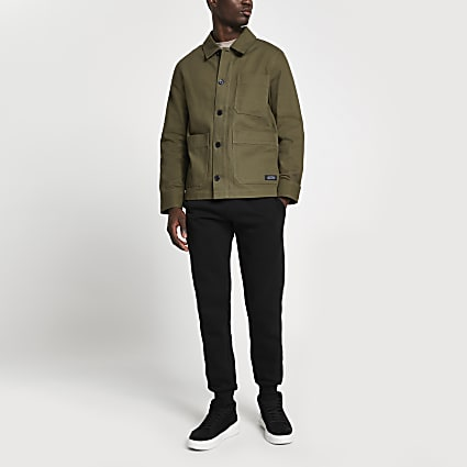 Khaki long sleeve jacket