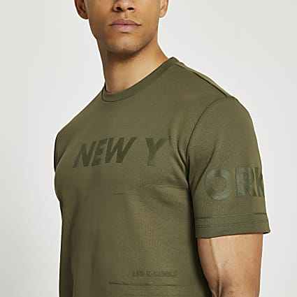 Khaki New York graphic t-shirt