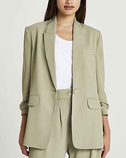 Khaki oversized blazer