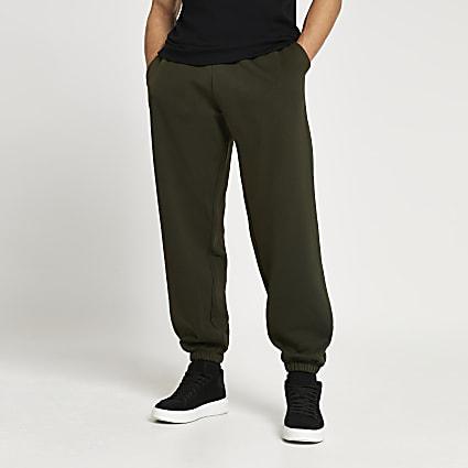Khaki oversized joggers