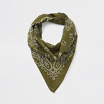 Khaki print bandanna